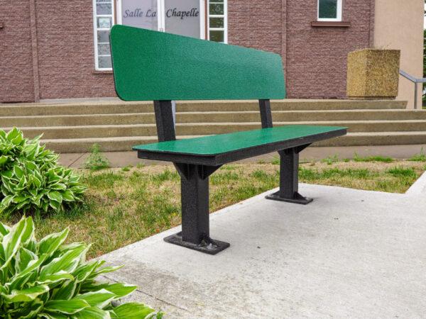 Banc de parc avec dossier - Banc de parc avec couleur et sans lattes