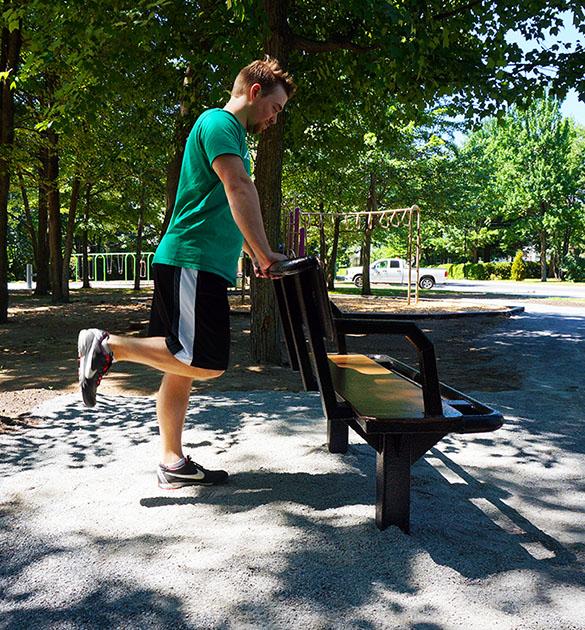 Banc de parc multifonction - Exerciseur pour aines