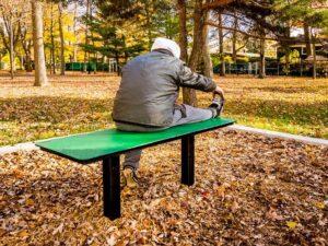 banc de parc sans dossier